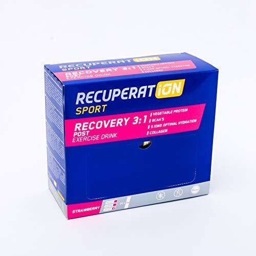 Recuperation Sport Recovery 3:1 | Bebida instantánea en polvo para la recuperación muscular | 24 sticks x 25 gr |