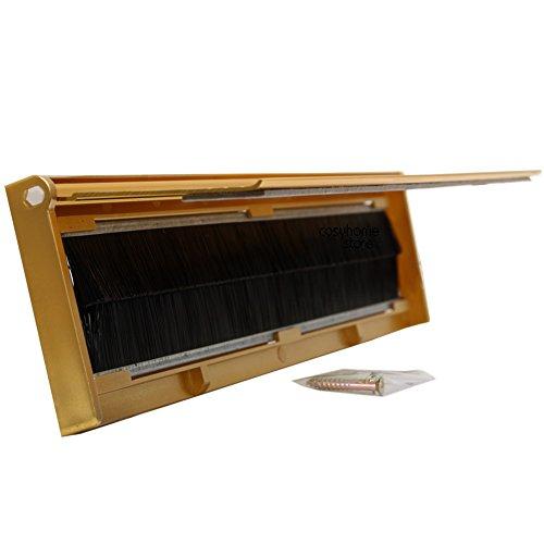 Einwurfklappe für Briefschlitz/Türeinwurf, mit Borsten zum Schutz vor Zugluft (Metall, Gold-Finish)