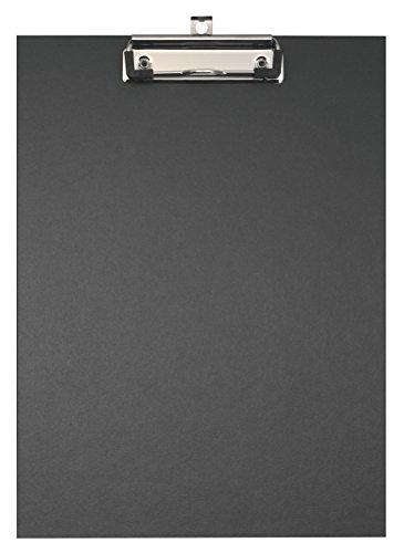 Falken Umwelt-Klemmbrett Öko mit stabilem Pappkern und farbigem Papierbezug außen für DIN A4 schwarz Blauer Engel ideal für Inventur und Lagerwirtschaft