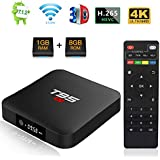 Android 7.1 TV Box, T95 S1 Smart Internet TV Box Amlogic S905W Quad Core 1GB/8GB With Digital Display HDMI Ultra HD 4K Ethernet 2.4GHz WiFi H.265 Video Decoder