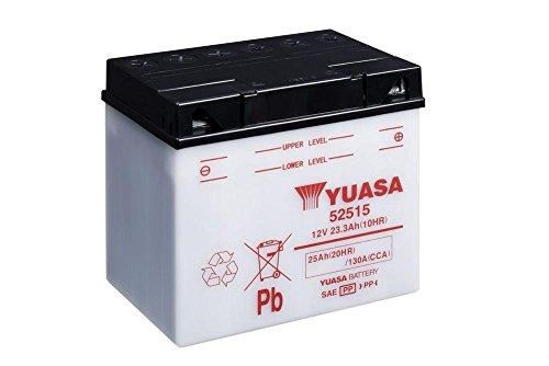 Batteria YUASA 52515, 12V/25ah (dimensioni: 186X 130X 171) per moto guzzi gts400anno di costruzione 1978