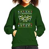 Coto7 Legend of Zelda Christmas Knit Pattern Kid's Hooded Sweatshirt