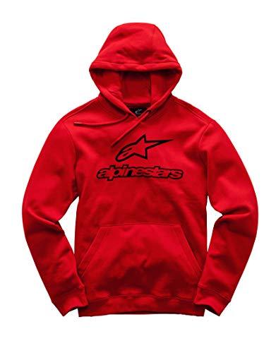 Alpinestars Herren Always Logo Pullover Hoodie Classic fit Fleece, Red, L Classic Fleece Pullover Hoodie