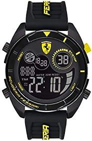 Scuderia Ferrari MEN'S BLACK DIAL BLACK SILICONE WATCH - 830744 083