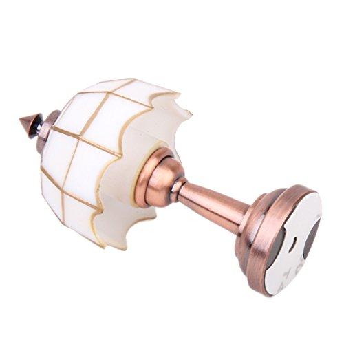 Fenteer Miniatur LED Lampe Licht Tischlampe Möbel Modell für 1/12 Puppenstube Dekoration - Bronze & Weiß -