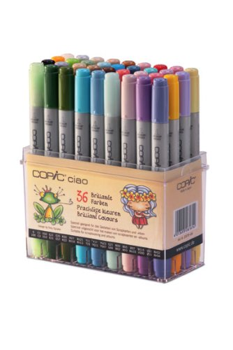 COPIC ciao Set 36Marker-Zeichnung Couleurs Vives - Ciao Marker