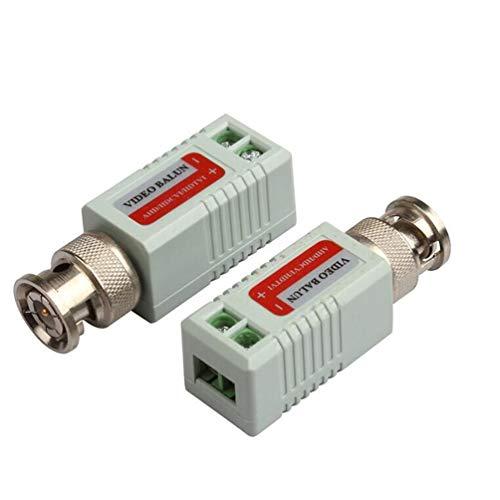 CHOULI Einkanal-Passiv-Video-Transceiver für Balun CCTV-Kamera/DVR BNC UTP Schwarz Twisted-pair Video-Übertragung
