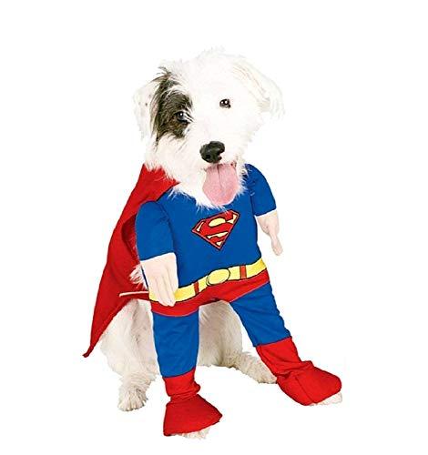 KIRALOVE   Disfraz Superman Hombre Acero   Perro
