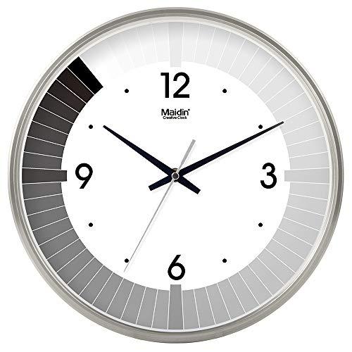 Wanduhr - Hinweis Uhr, Musikschule Art-Deco-Uhr Silber Kunststoffrahmen 03 8 Zoll