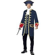 Smiffy's - Traje de pirata comandante, color azul (24168L)