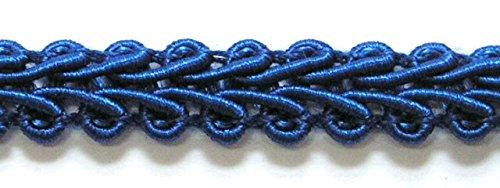 32m Posamentenborte 6mm breit Farbe: Blau 2318-34