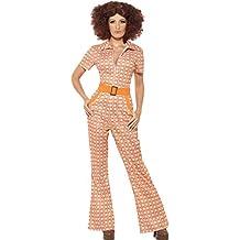 Smiffy's - Disfraz chica de los años 70´, color naranja (43188M)