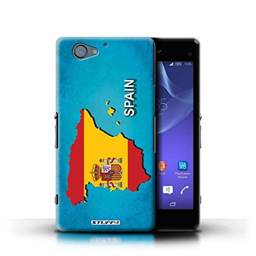 Kobalt® Imprimé Etui / Coque pour Sony Xperia A2 / Thaïlande/Thai conception / Série Drapeau Pays Espagne/Espagnol