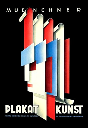bauhaus-era-munich-art-poster-artists-summer-1931-exhibition-a3-poster-re-print