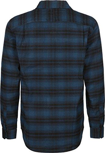adidas Stretch Flannel Langarmhemd blau schwarz kariert