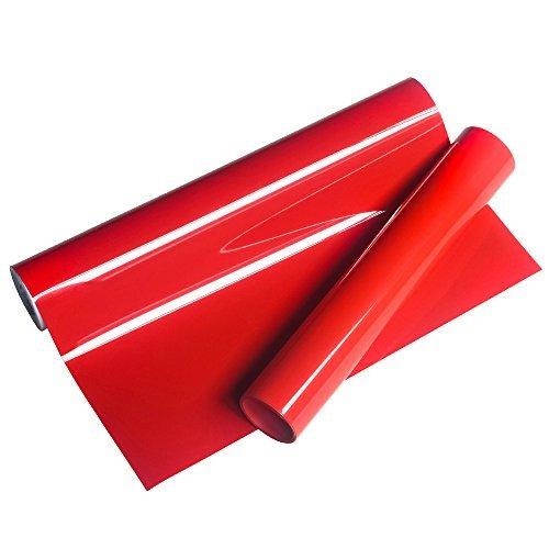 VINYL FROSCH HTV 25x155cm PU rote Wärmeübertragung Vinyl Roll für T-Shirts, Kleider Taschen und andere Stoffe (Stretch-vinyl-stoff)