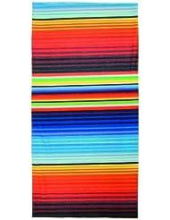 M-Wave Jamaica - Pañuelo para el cuello/cabeza unisex, multicolor, 24 x 48 cm