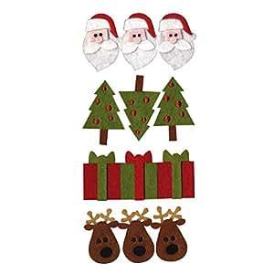 Alberi di Artemio Natale Babbo Natale e renne e regali, feltro, multicolore, colore
