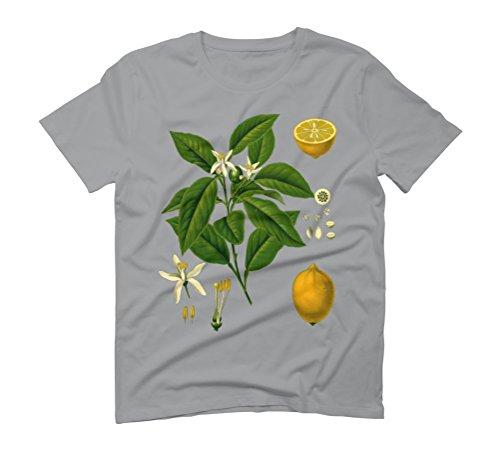 Botanical Illustration - Lemon Plant Men's Graphic T-Shirt - Design By Humans Opal