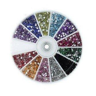 BeautyLife 2400Pcs Nail Art Strass Fette Consigli