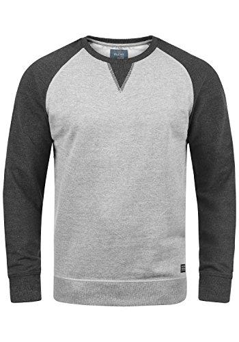 Blend Aari Herren Sweatshirt Pullover Pulli Mit Rundhalsausschnitt, Größe:L, Farbe:Zink Mix (70815)