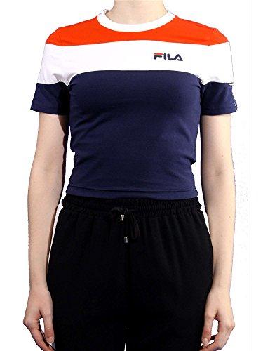 25f68f31701 Fila T-Shirt Donna Maya Crew Crop Tee 684301 Graphic Tee l Blu