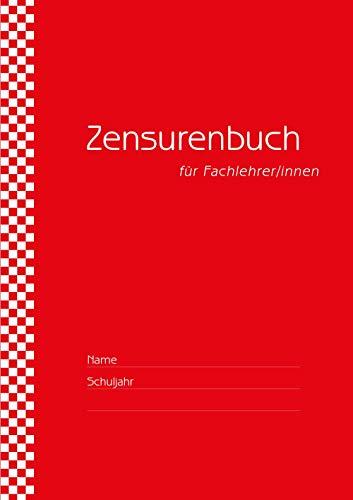 Zensurenbuch/Notenbuch für den Fachlehrer (bis zu 20 Klassen) Umschlag rot