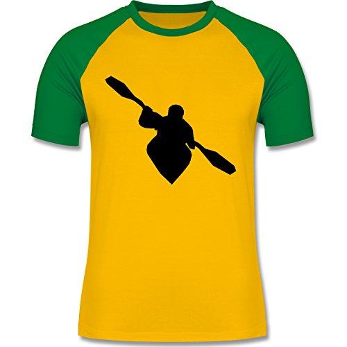 Shirtracer Wassersport - Kajak - Herren Baseball Shirt Gelb/Grün