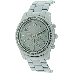 BDV Women's Quartz Watch with White Dial Analogue Display and White Bracelet BDV130/C