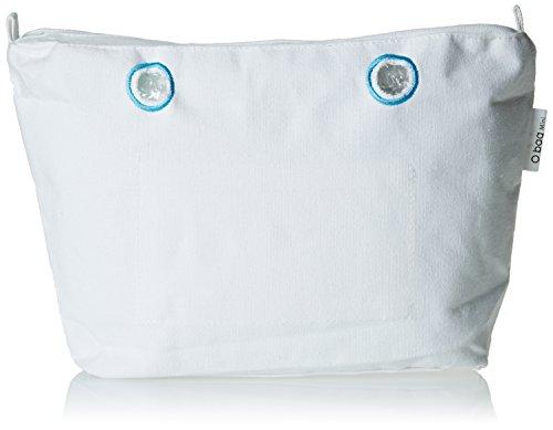 O bag Canvas Mini Base, Borsa a Mano Donna, Bianco, 29x25x9 cm (W x H x L)