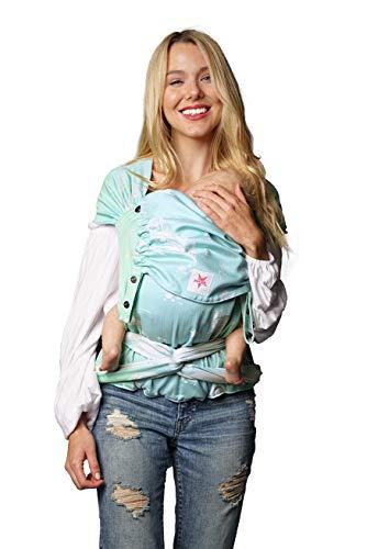 Babytrage: KOKADI® WrapStar Federn Sky (Toddler) ✓ Neugeborene & Kleinkinder ✓ Ergonomisch ✓ Steg verstellbar ✓ Bio-Baumwolle ✓ 7-20kg ✓ GRATIS Beutel