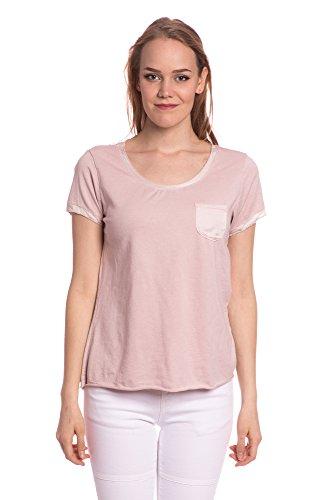 Abbino 8447-2 Shirts Tops Damen - Made in Italy - Viele Farben - Übergang Frühling Sommer Herbst Damen Shirts Lässig Sexy Zärtlichkeit Sale Freizeit Elegant Komfortabel Fashion Dynamisch Rosa (Art. 8449-3)