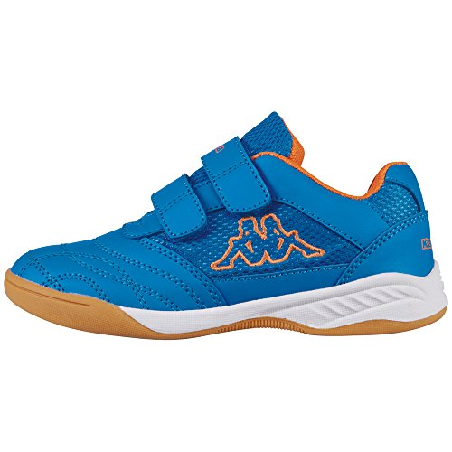 Kappa Unisex-Kinder Kickoff Kids Low-Top, Blau (6044 Blue/orange), 26 EU