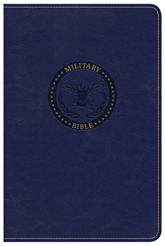 CSB Military Bible, Royal Blue Leathertouch Csb-box