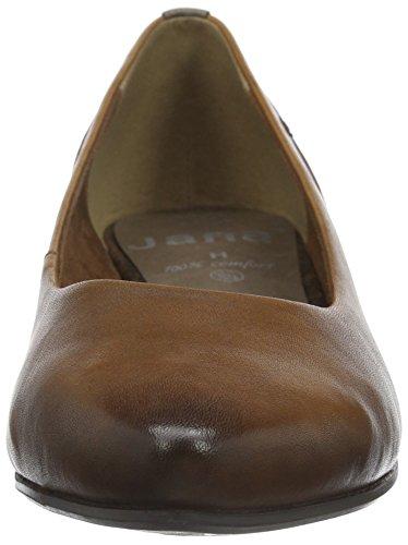 Jana Damen 22200 Geschlossene Ballerinas Braun (Cognac 305)