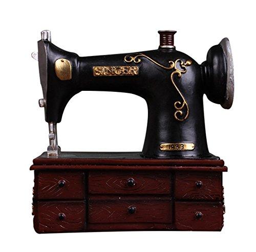 AISHUAIGE Retro-Stil alte Nähmaschine Harz Sparschwein Handwerk kreative Ornamente Studio Shooting Requisiten
