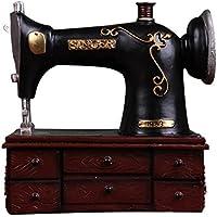 GONGYIPIN Máquina de Coser Antigua de Estilo Retro Hucha de Resina Artesanías Adornos creativos Accesorios de