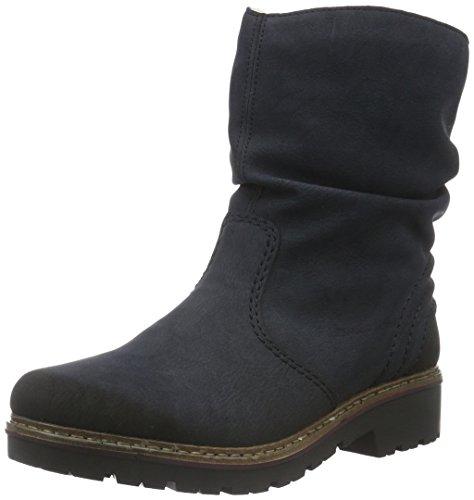 Rieker Z4596 Damen Stiefelette,Stiefel,Boots,Halbstiefel,Damenstiefelette,Bootie,gefüttert,Winterstiefeletten,Pazifik,40 EU