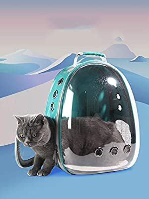 Bolsa de Viaje para elgato, Mochila portátil con cápsula Espacial, Mochila panorámica para el Viaje del Gato y el Gato, Portador portátil Transpirable para Mascotas de FLHLH.CO