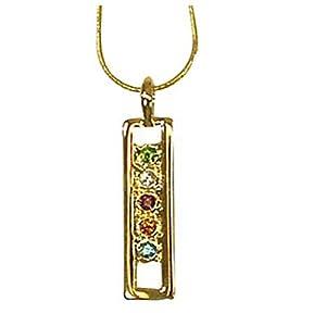 exselle farbigen Kristall Gold Teller Anhänger
