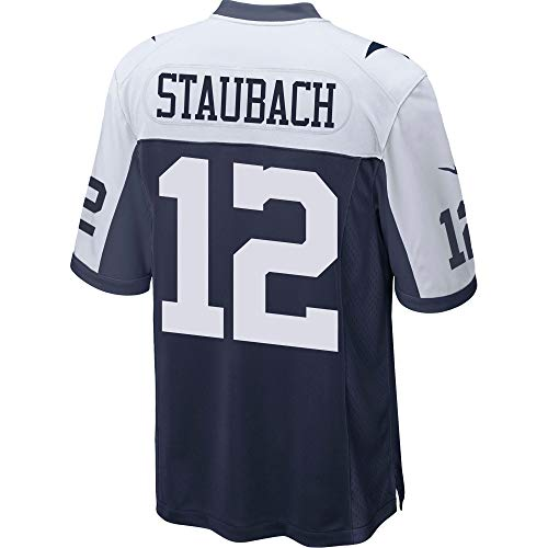 NFL Herren Dallas Cowboys Game Throwback Jersey, Herren, Staubach Throwback, Marineblau/weiß, Small