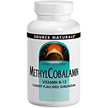 Source Naturals - Magnesio de la cereza 1 de la vitamina B12 Sublingual de MethylCobalamin.