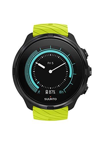 SUUNTO 9 GPS-Uhr, Unisex-Erwachsene, No Baro/HR Strap, Lime, Einheitsgröße -