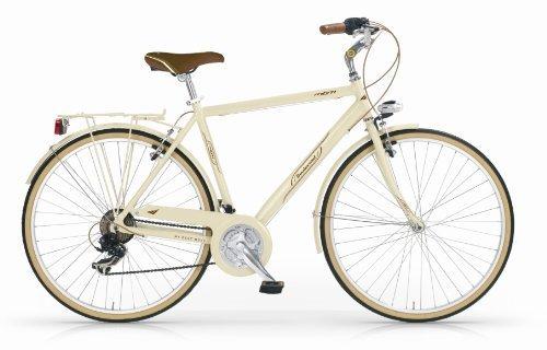 Mbm - Boulevard Man Bicyclette Vélo Homme 28'' H54 18S Trekking City Bike Crème