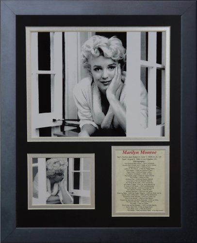 Legenden Sterben Nie Marilyn Monroe Fenster gerahmtes Foto Collage, 11x 35,6cm