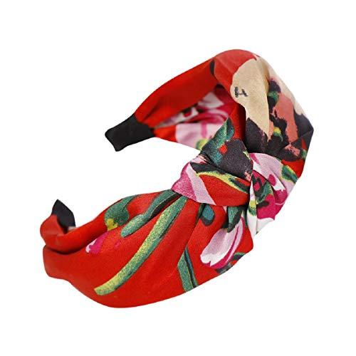 Barlingrock Printing Stirnbänder für Damenmode Einfache süße Stirnbänder Breite Stirnbänder Bow Knot Cross Stretchy Stirnbänder Stirnbänder für Mädchen für Make-up Haarband Hoop - Sportliche Slip Wrap