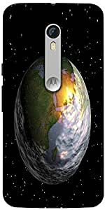 Snoogg Earth Designer Protective Back Case Cover For Motorola Moto X Style