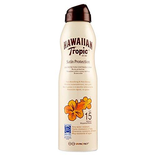 Hawaiian tropic can continuo lozione spray, protezione 15-220 ml