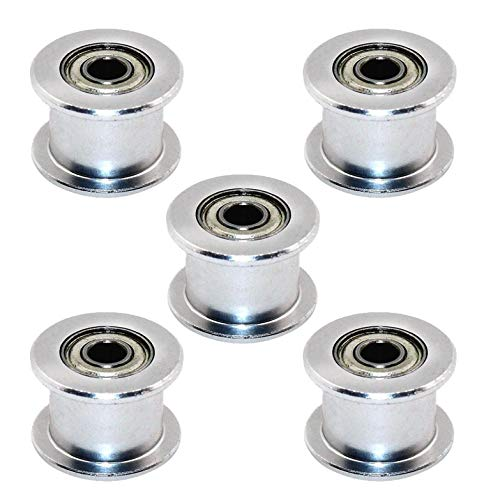 SALAKA 5PCS Impresión 3D Aluminio Zahn Los Polea