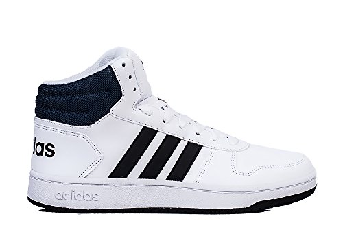 adidas Herren Vs Hoops Mid 2.0 Gymnastikschuhe, Elfenbein (Ftwr White/Core Black/Collegiate Navy), 46 2/3 EU (Basketball-schuhe Klassische)